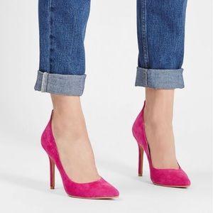 Host Pick * TopShop gardenia pink suede heels 6.5